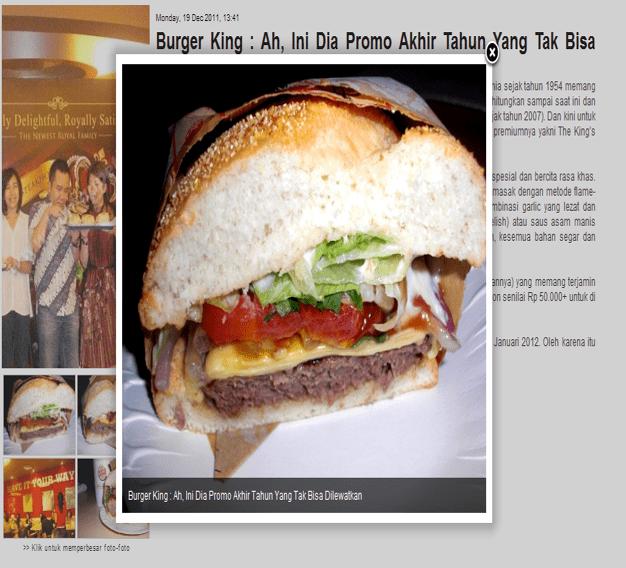 Media Launching New Burger King Promo Piar Consulting
